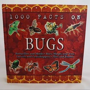 """🌈3/$20. Hardcover Book """"1000 Facts on Bugs"""""""